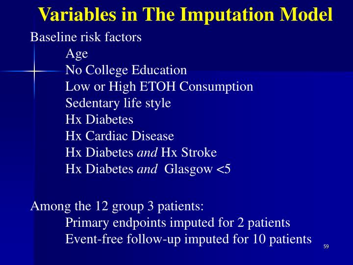 Variables in The Imputation Model