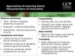 apprentices m learning blend characteristics of innovation