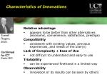 characteristics of innovations