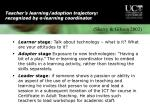 teacher s learning adoption trajectory recognized by e learning coordinator