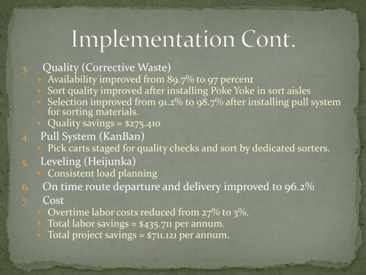 Implementation Cont.
