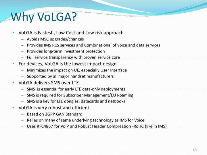 Why VoLGA?