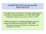 postbd fev1 fvc lln and postbd fev1 fvc 0 70