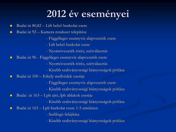 2012 év eseményei