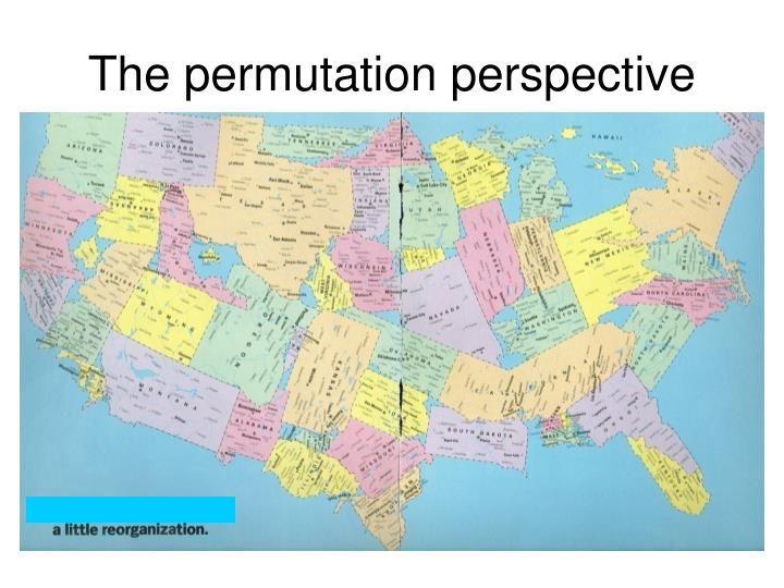 The permutation perspective