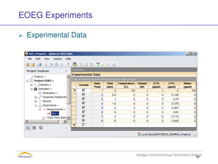 EOEG Experiments