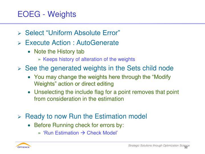 EOEG - Weights