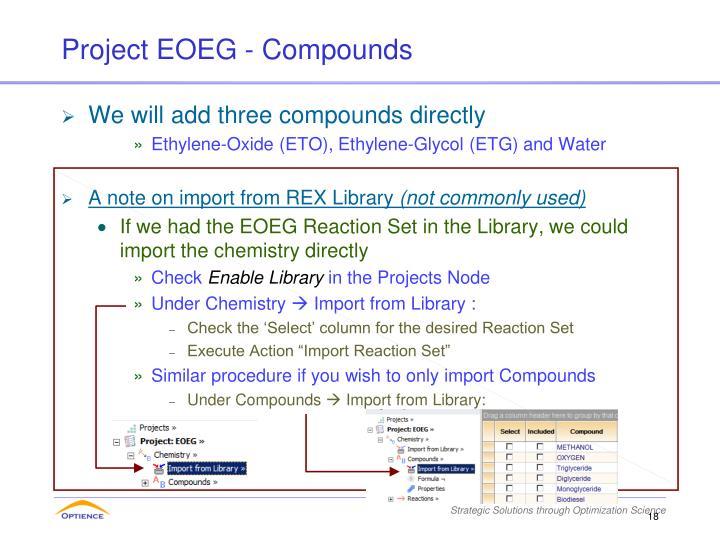 Project EOEG - Compounds