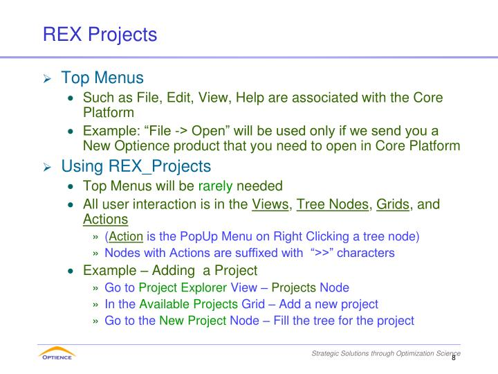 REX Projects