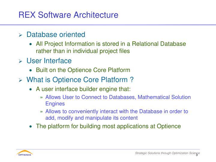 REX Software Architecture