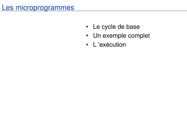Les microprogrammes