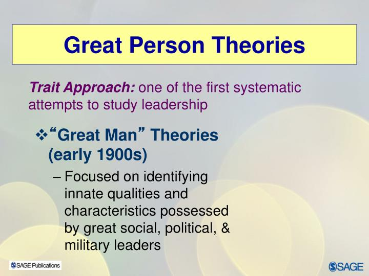 Great Person Theories