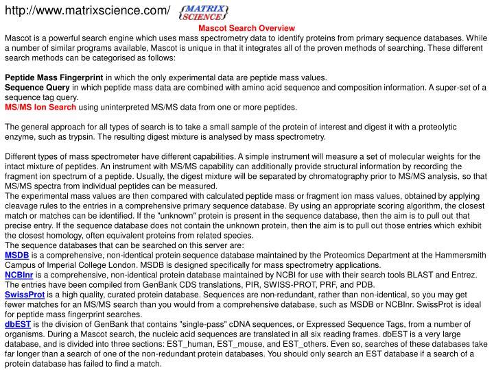 http://www.matrixscience.com/