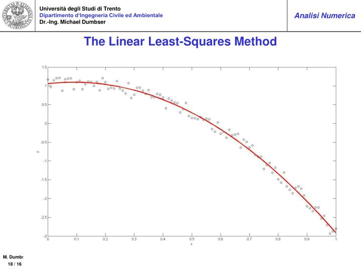 The Linear Least-Squares Method