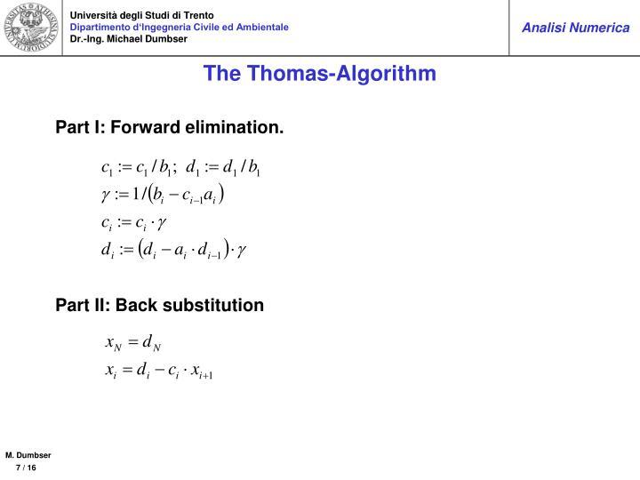 The Thomas-Algorithm
