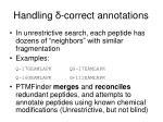 handling correct annotations