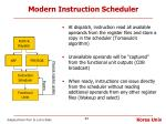 modern instruction scheduler