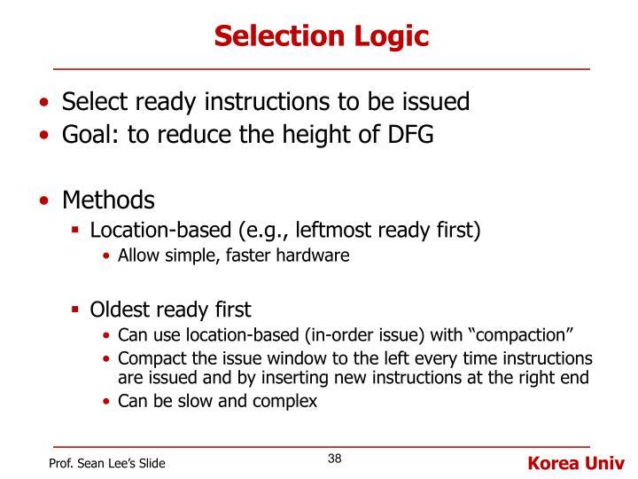 Selection Logic