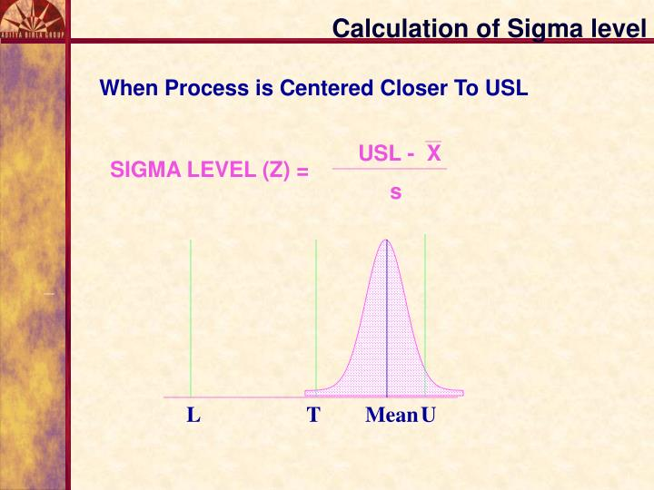 Calculation of Sigma level