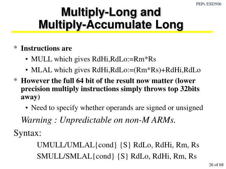Multiply-Long and