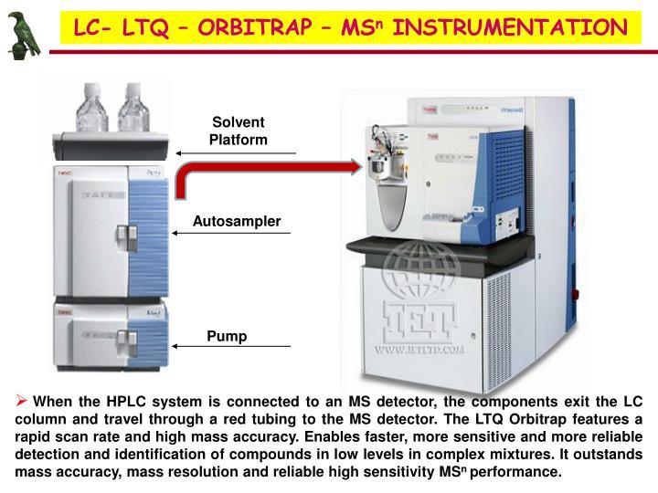 LC- LTQ – ORBITRAP – MS
