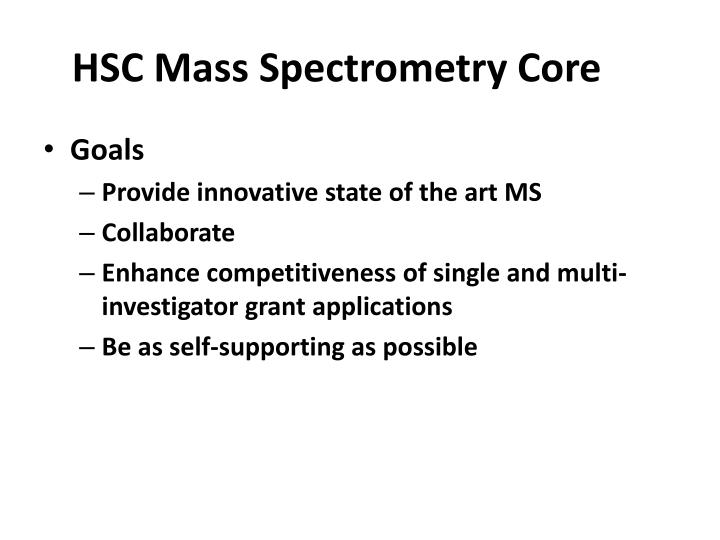 HSC Mass Spectrometry Core
