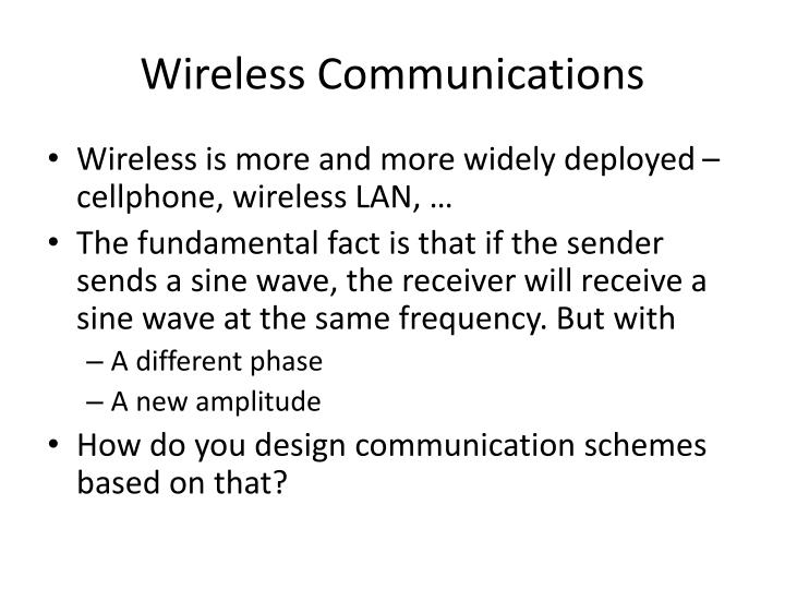 Wireless communications1