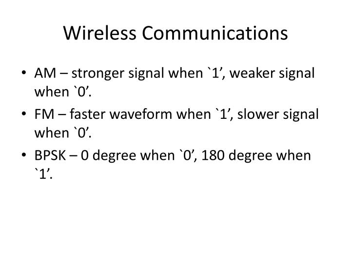 Wireless communications2