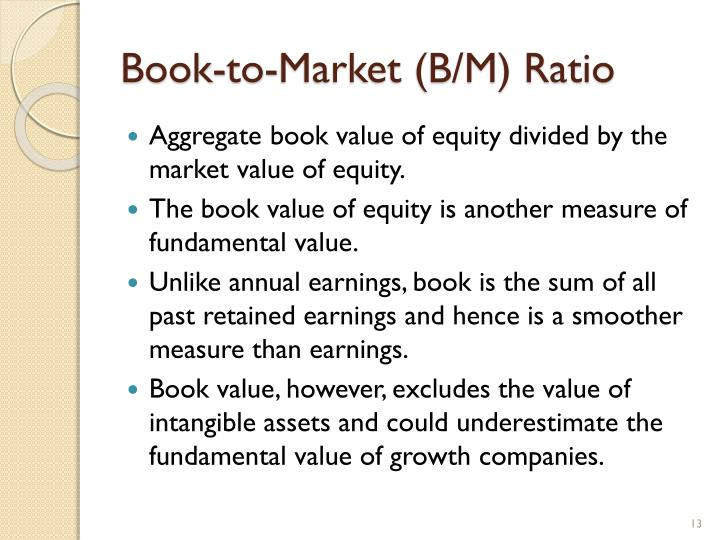 Book-to-Market (B/M) Ratio