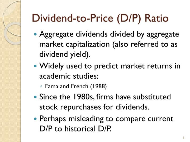Dividend-to-Price (D/P) Ratio