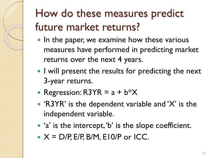 How do these measures predict future market returns?