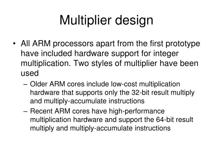 Multiplier design