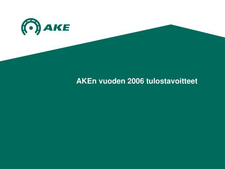 AKEn vuoden 2006 tulostavoitteet