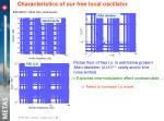 characteristics of our free local oscillator