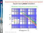 experimental allan dev with white phase noise injected square wave phase modulation3