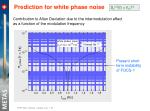 prediction for white phase noise