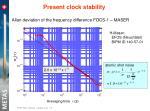 present clock stability