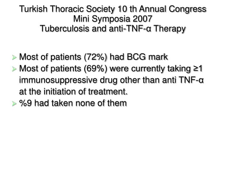 Turkish Thoracic Society 10 th Annual Congress