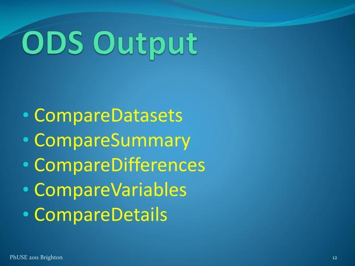ODS Output
