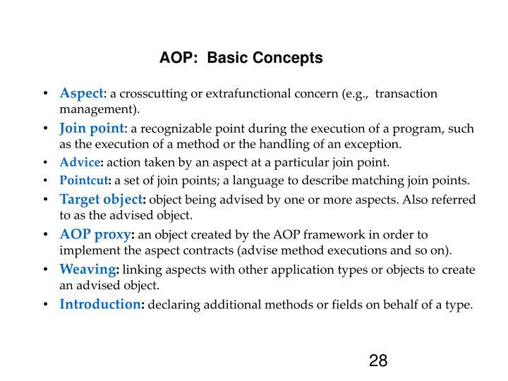 AOP:  Basic Concepts