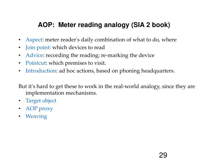 AOP:  Meter reading analogy (SIA 2 book)‏