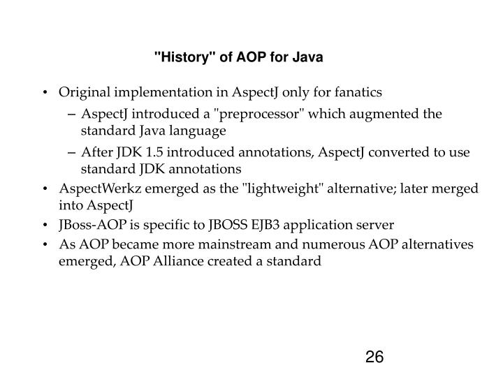 """History"" of AOP for Java"