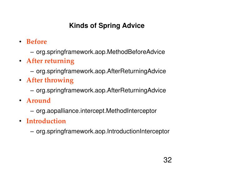 Kinds of Spring Advice