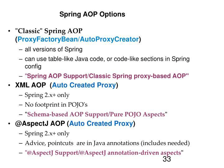 Spring AOP Options