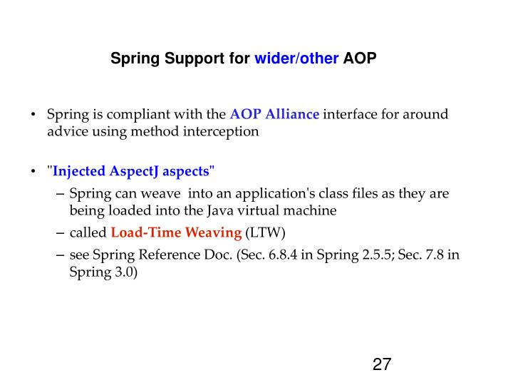 Spring Support for
