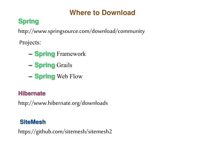 Where to download