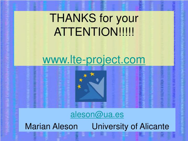 THANKS for your ATTENTION!!!!!