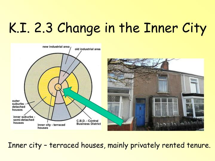 K i 2 3 change in the inner city