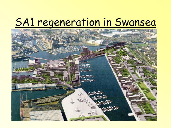 SA1 regeneration in Swansea