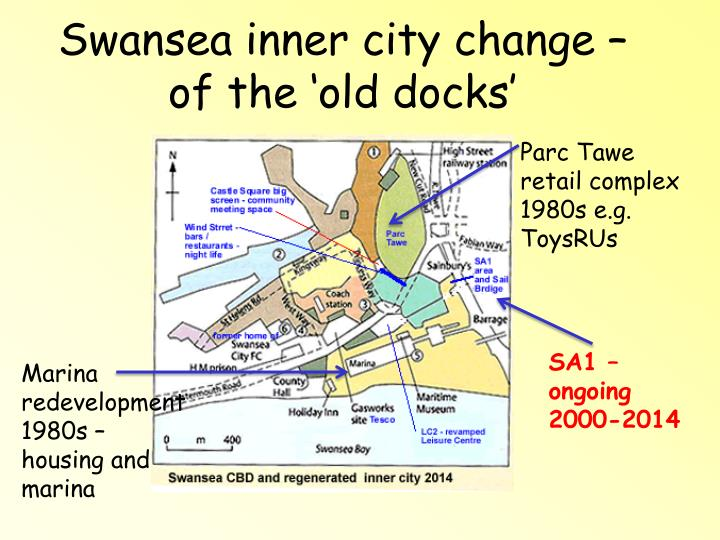Swansea inner city change – of the 'old docks'